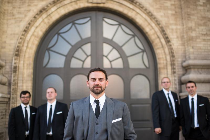 Denver Wedding Photography History Colorado guys in front of door