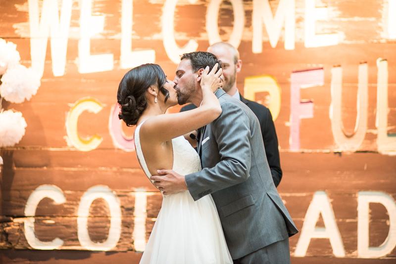 Denver Wedding Photography History Colorado first kiss