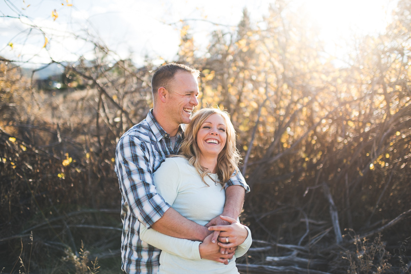 Denver engagement photography golden light