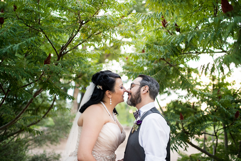 Denver wedding photography kissing sumac