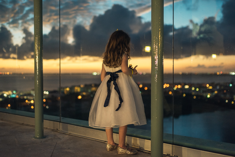 Cancun Wedding Photography flower girl