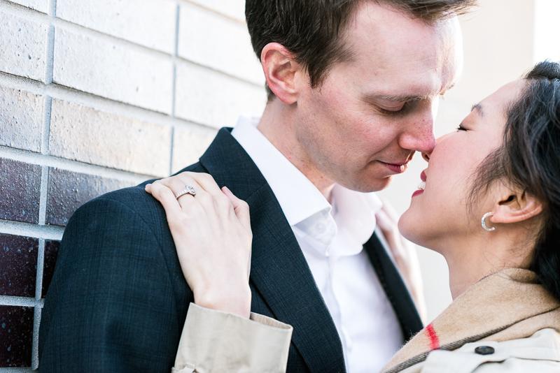 Denver engagement photography lodo kiss