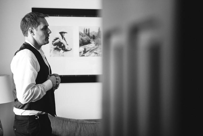 denver wedding photography groom getting ready