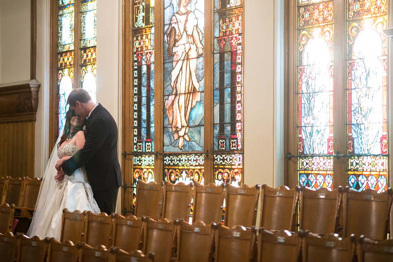 denver wedding photography stained glass trinity church