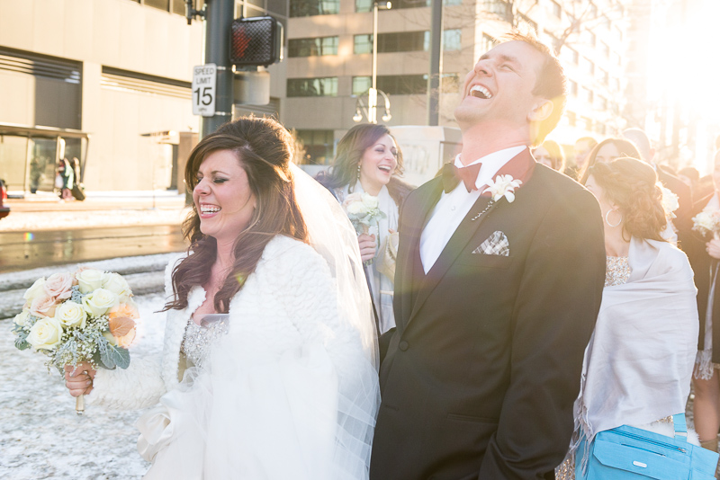 denver wedding photography bride and groom laughing