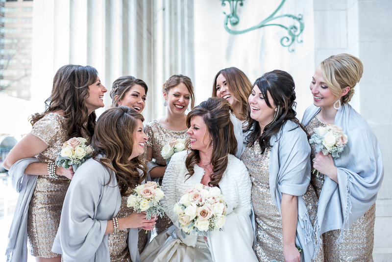 denver wedding photography bridesmaids laughing