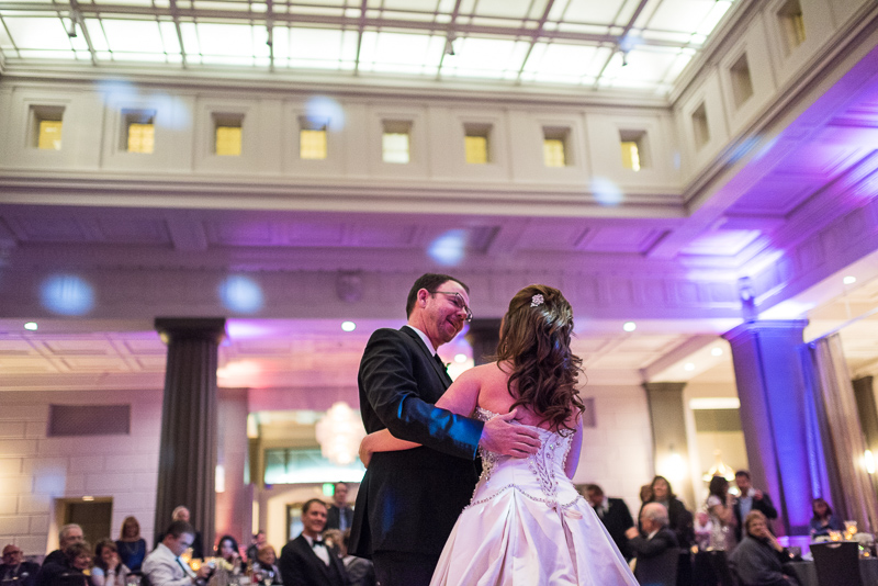 denver wedding photography father daughter dance