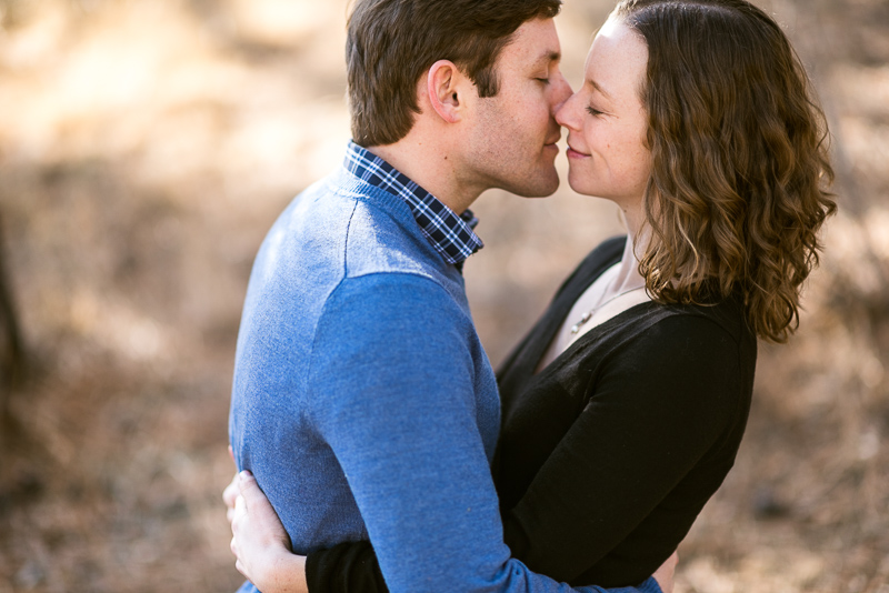 Evergreen Engagement Photography kiss