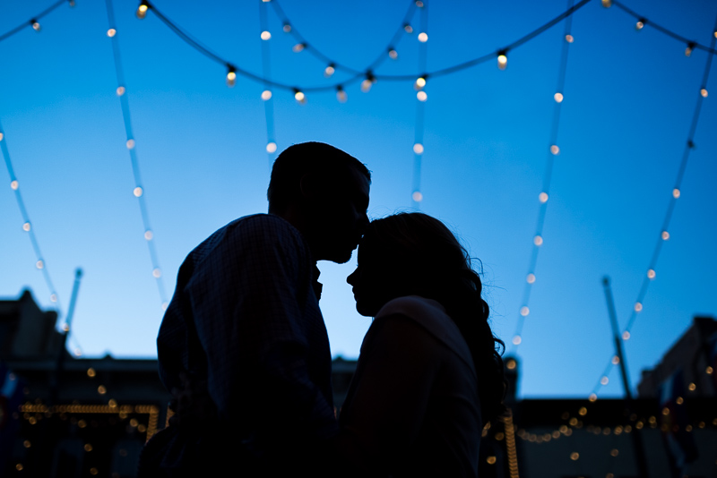 Denver Engagement Photography silhouette lights
