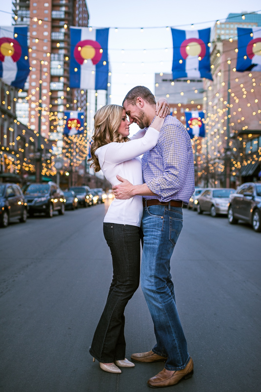Denver Engagement Photography larimer lights