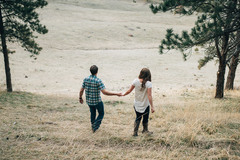 Boulder Engagement Photography walking holding hands