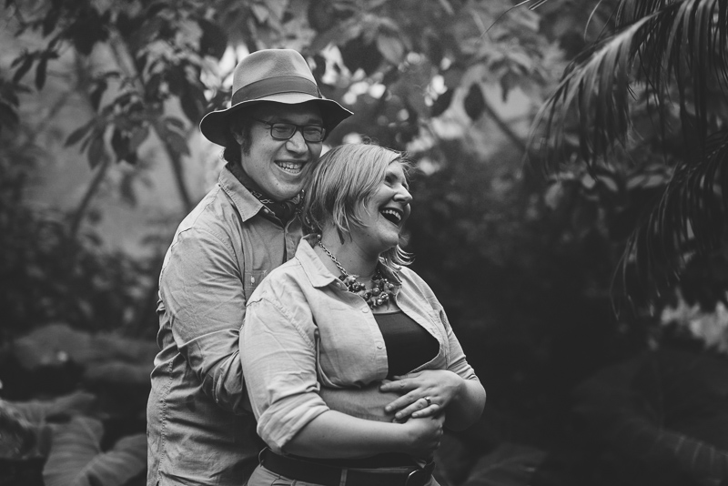 Denver Engagement Photography black and white
