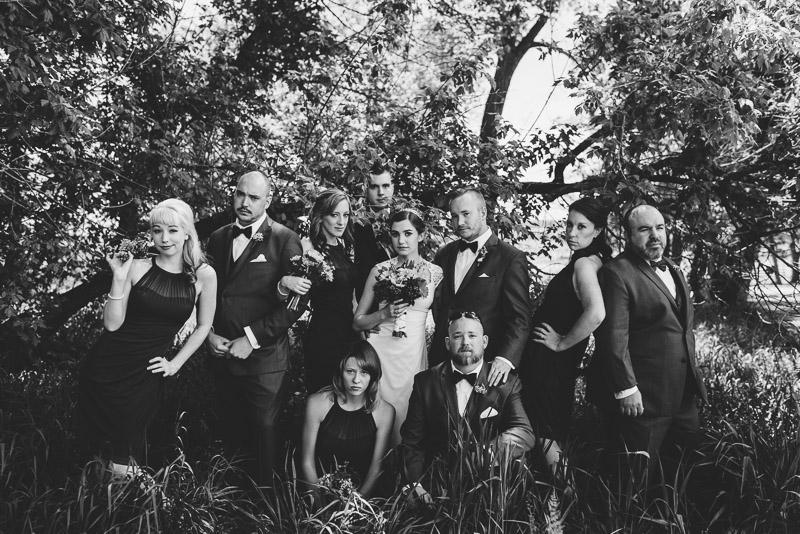 chatfield botanic gardens wedding photography bridal party portrait