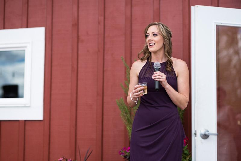 chatfield botanic gardens wedding photography maid of honor toast