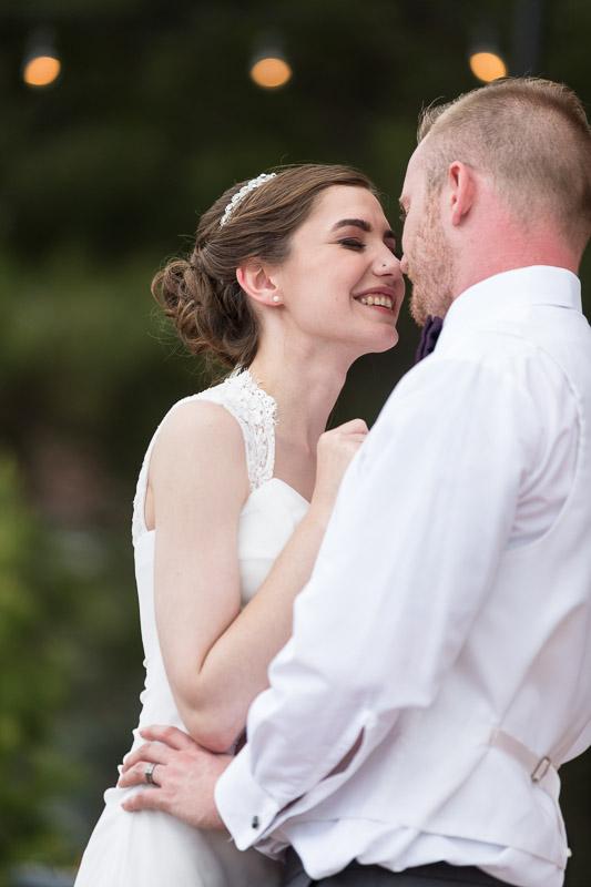 chatfield botanic gardens wedding photography dance smile