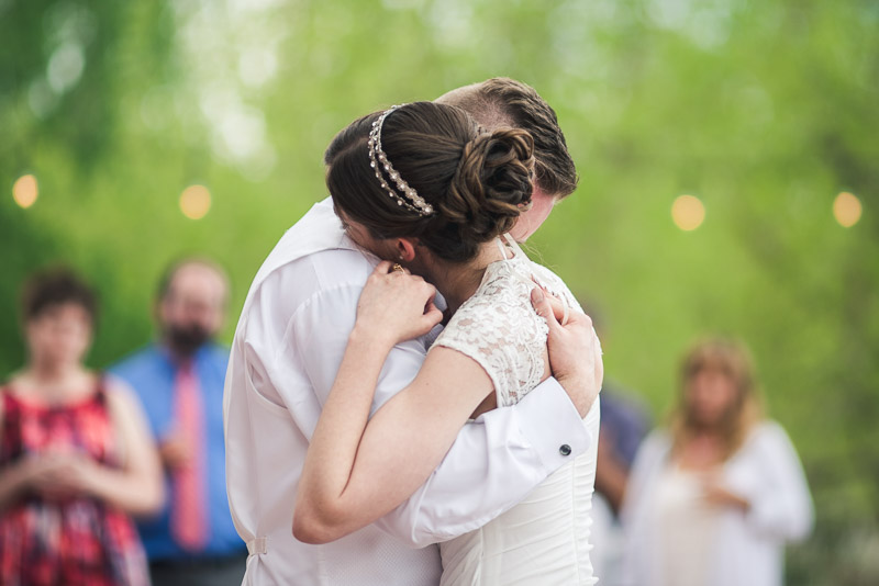chatfield botanic gardens wedding photography first dance bistro lights