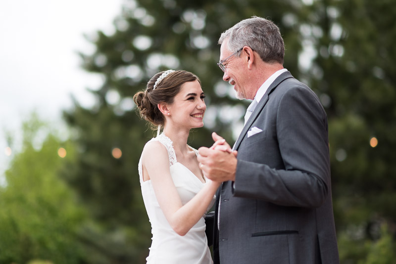 chatfield botanic gardens wedding photography father daughter dance