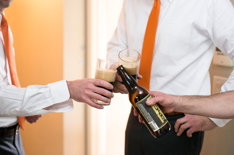 steamboat springs wedding photography beer toast