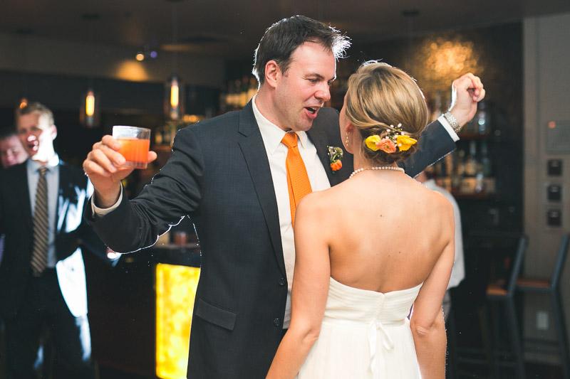 steamboat springs wedding photography dancing bride groom