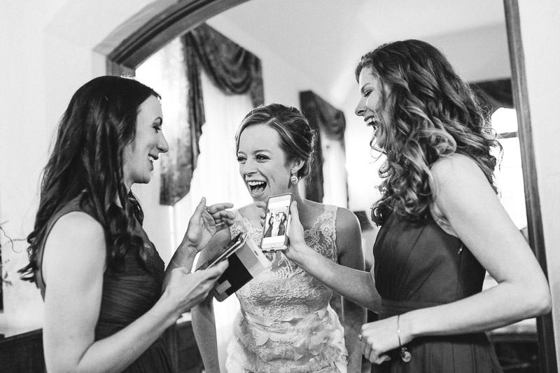 Denver Wedding Photography Cherokee Ranch and Castle bride laughing