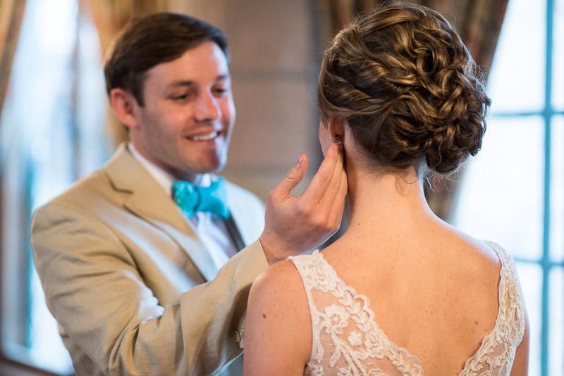 Denver Wedding Photography Cherokee Ranch and Castle earring