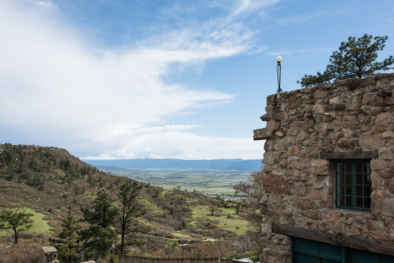 Denver Wedding Photography Cherokee Ranch and Castle view
