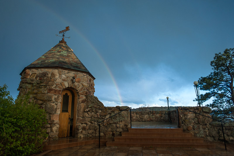 Denver Wedding Photography Cherokee Ranch and Castle rainbow