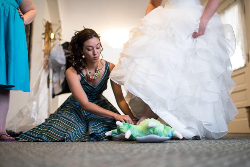 morrison willow ridge manor wedding photographer dinosaur slippers