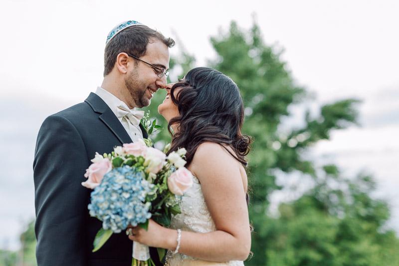 denver jewish wedding photographer happy bride and groom