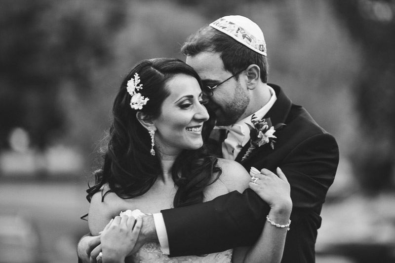 denver jewish wedding photographer black and white couple