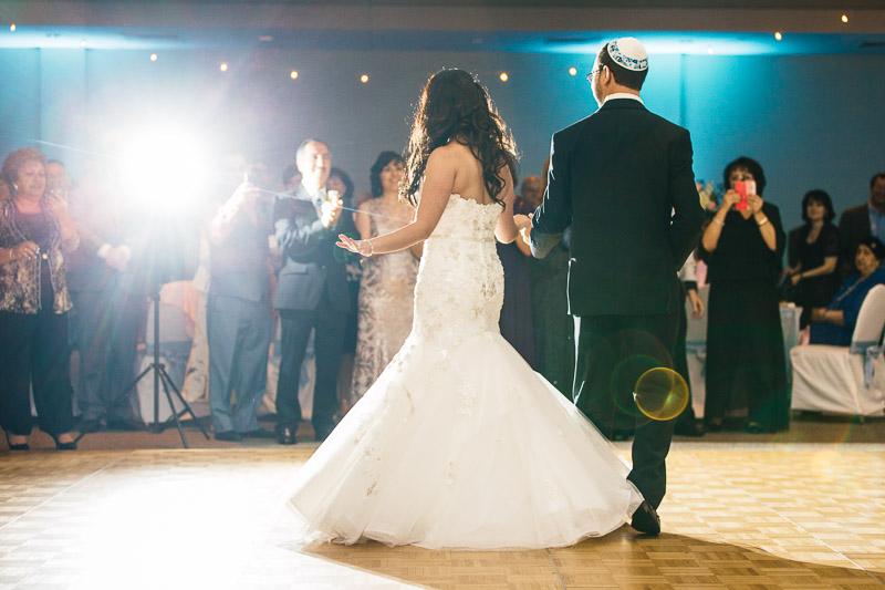 denver jewish wedding photographer choreographed first dance