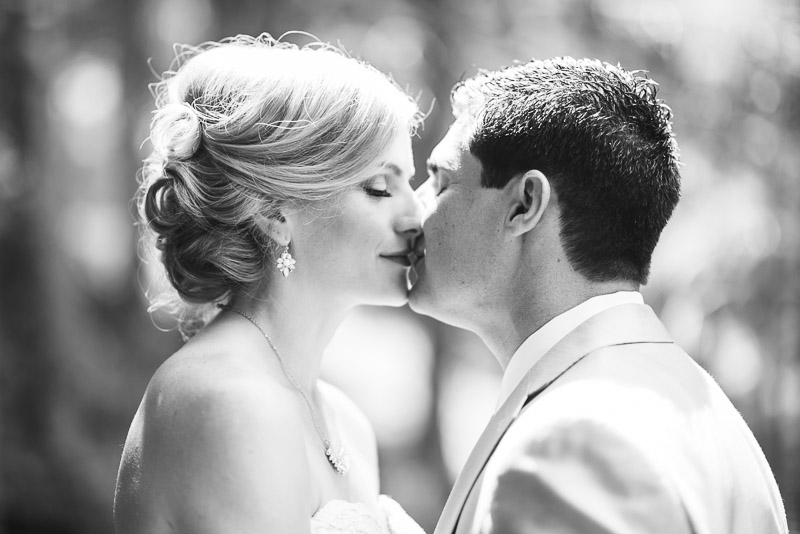 Emily and Ryan Lower Lake Ranch Wedding Photography kiss