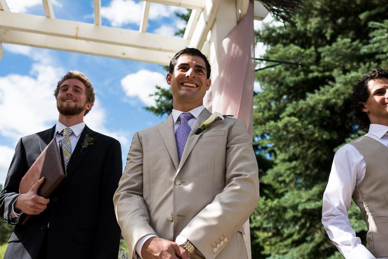 Emily and Ryan Lower Lake Ranch Wedding Photography happy groom