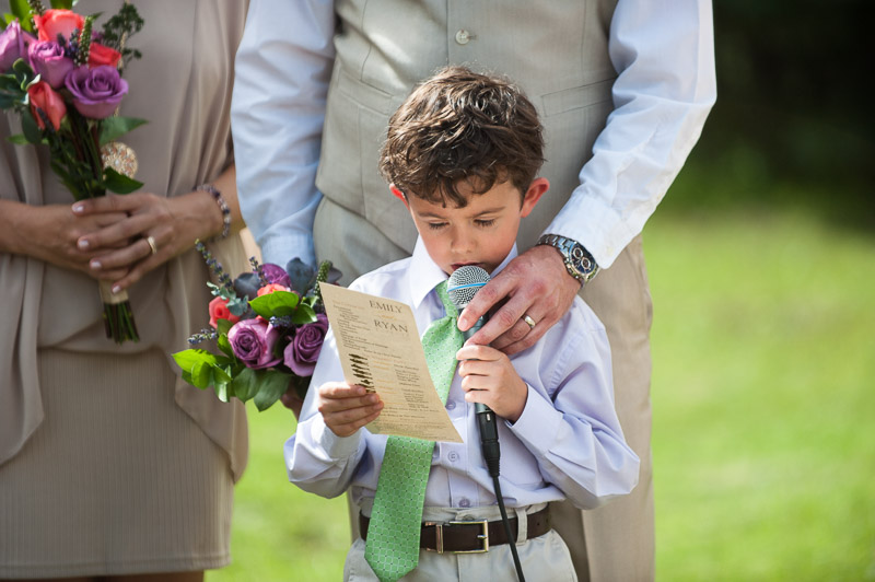 Emily and Ryan Lower Lake Ranch Wedding Photography child speaking