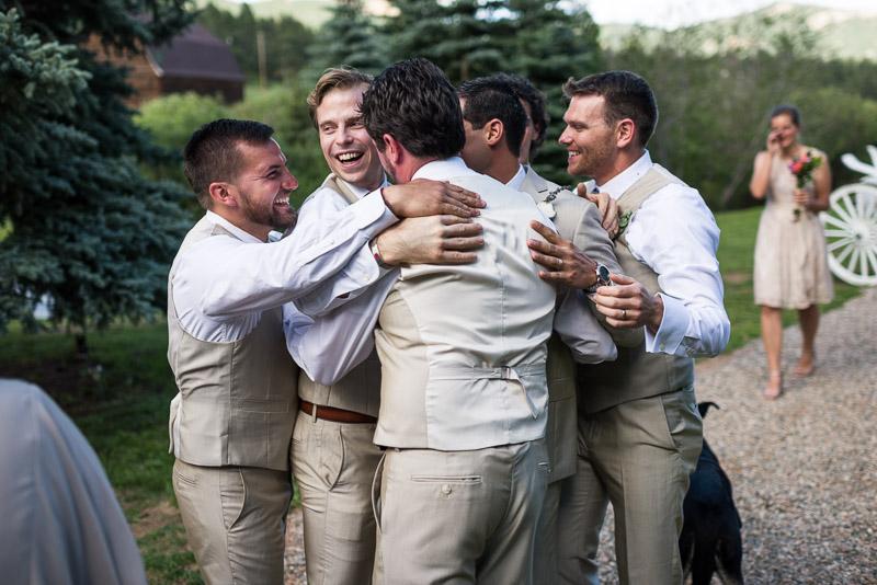 Emily and Ryan Lower Lake Ranch Wedding Photography happy guys