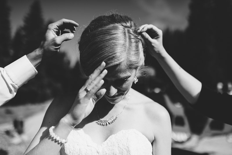 Emily and Ryan Lower Lake Ranch Wedding Photography pick lavender out of hair