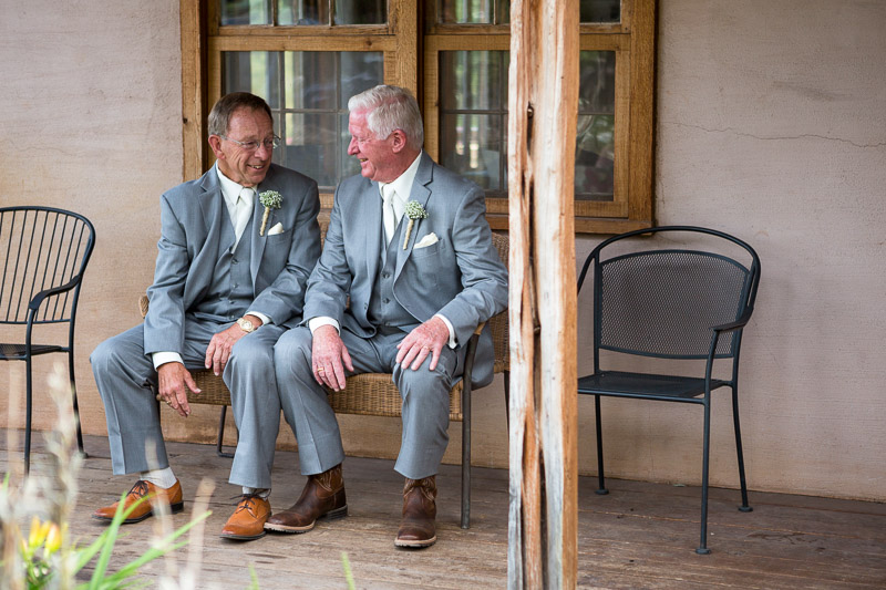 Cuchara Wedding Photographer fathers talking