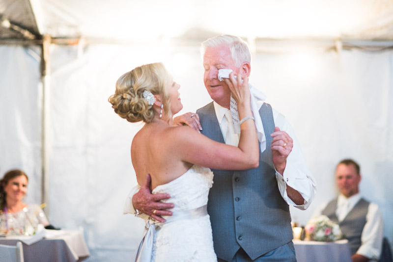 Cuchara Wedding Photographer father daughter dance crying