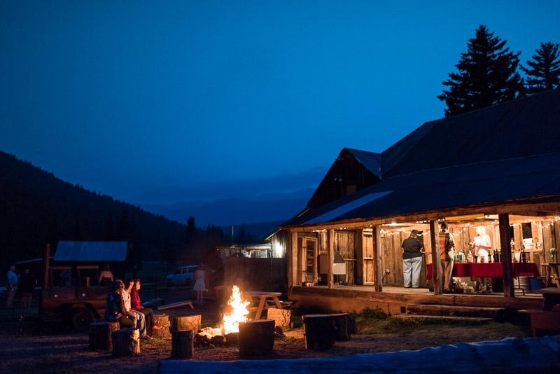Cuchara Wedding Photographer twilight fire