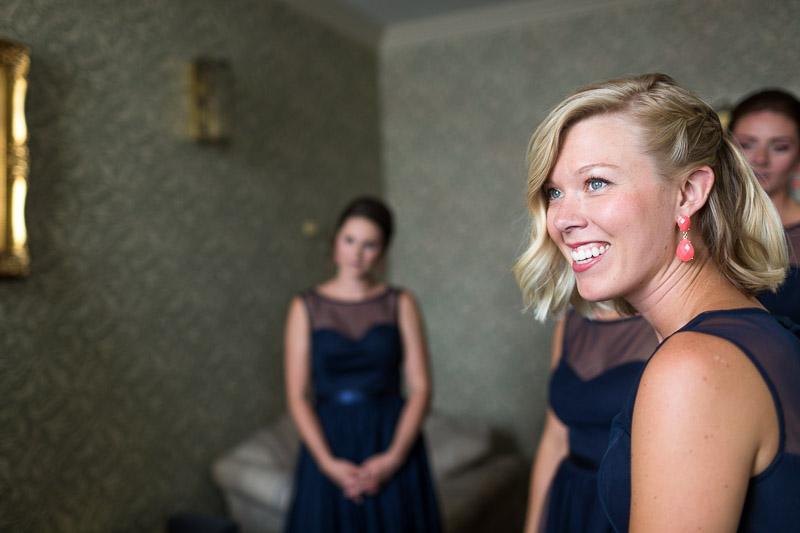 Denver athletic club wedding happy bridesmaids