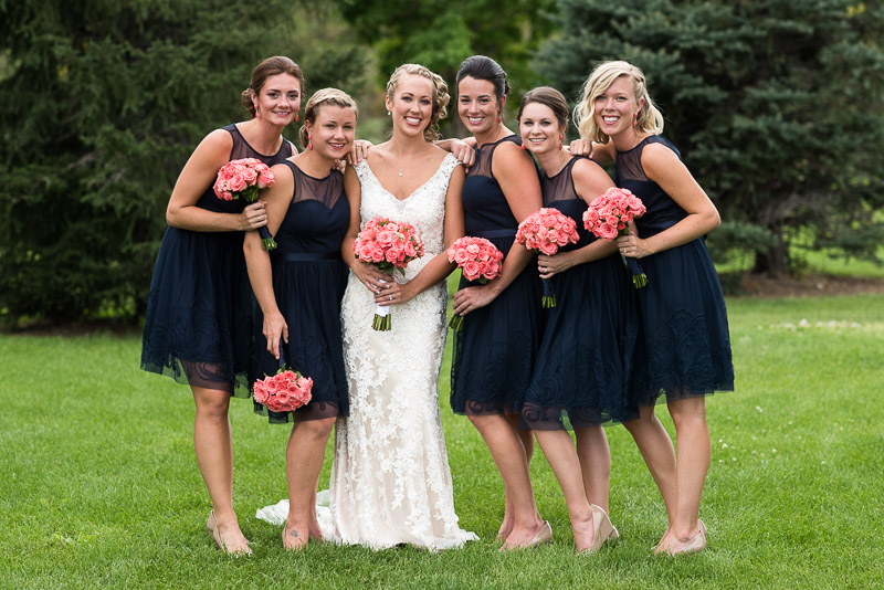 Denver athletic club wedding bridesmaids
