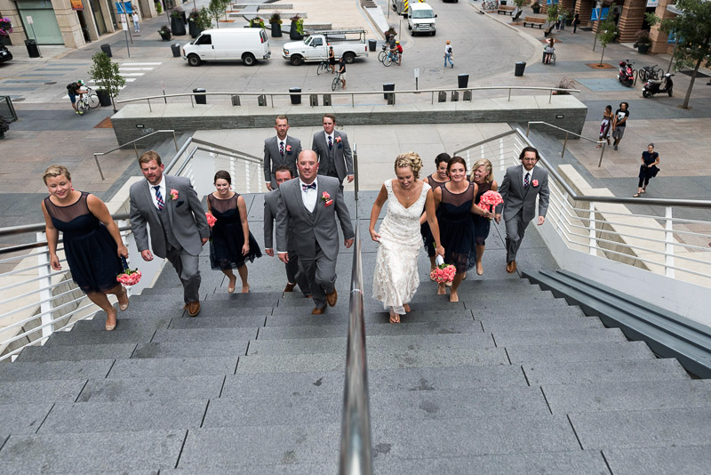 Denver athletic club wedding millenium bridge