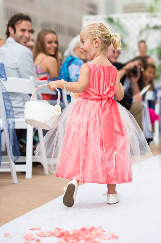 Denver athletic club wedding flower girl