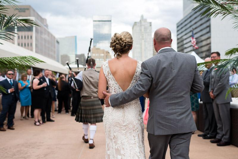 Denver athletic club wedding bagpipes