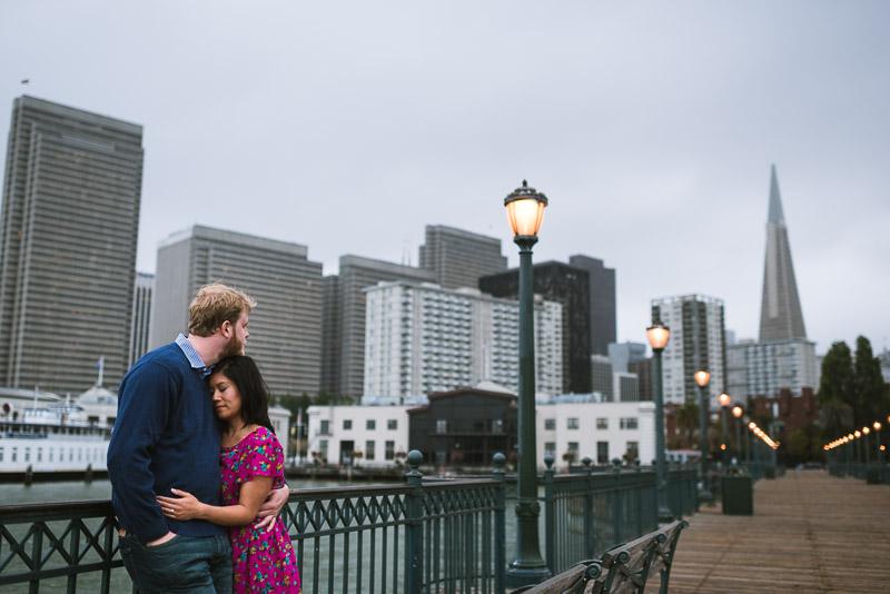 San Francisco engagement photography pier 7
