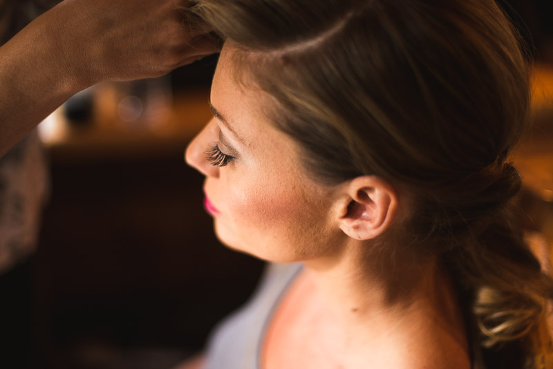 Lake Tahoe Wedding Photographer bride hair