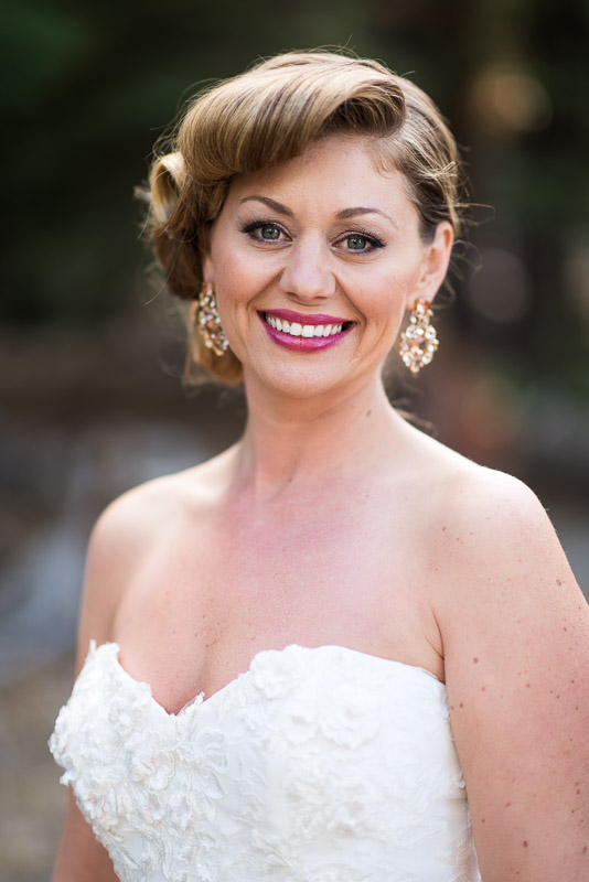 Lake Tahoe Wedding Photographer smiling bride