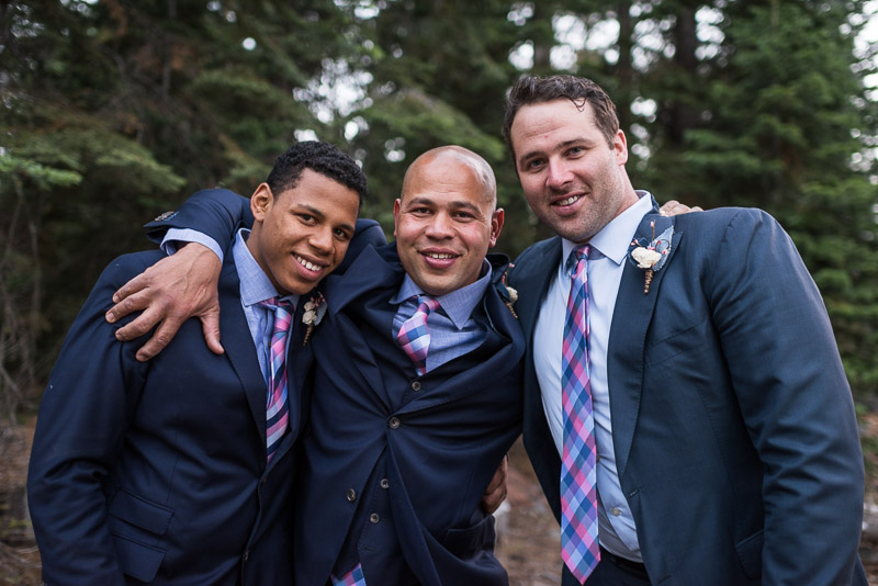 Lake Tahoe Wedding Photographer groomsmen