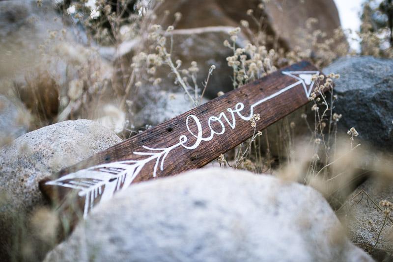 Lake Tahoe Wedding Photographer wood love sign
