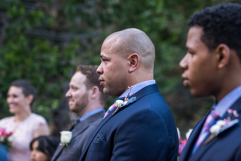 Lake Tahoe Wedding Photographer groom with tear
